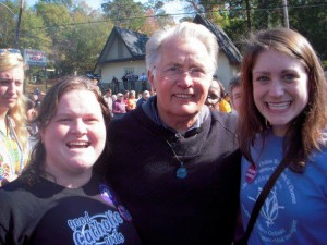 Aileen Hayes, former WOC Board member, Martin Sheen, and me