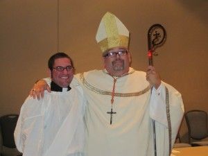 Deacon Kearns with Archbishop Michael Seneco