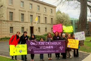 17th Annual World Day of Prayer for Women's Ordination, outside the Vatican Embassy in Washington, D.C.
